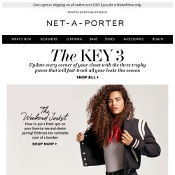 [NET-A-PORTER] The 3 pieces you need now