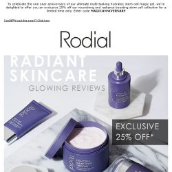 [RODIAL] 5* Glowing Reviews & Skin | Exclusive 25% Off Stem Cell Collection