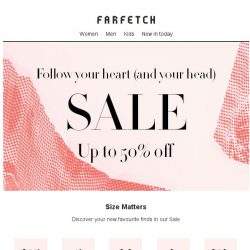 [Farfetch] Sale | Looking for your size?
