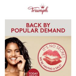 [Triumph] 50% OFF FLASH SALE Back by Popular Demand!