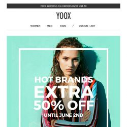 [Yoox] Our hottest brands at half price