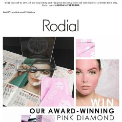 [RODIAL] Win Our Award-Winning Pink Diamond Lifting Mask
