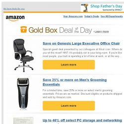 [Amazon] Save on Genesis Large Executive Office Chair