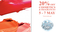 Metro: Enjoy 20% OFF All Purchases from Cosmetics,Fragrances, Health & Personal Care departments!
