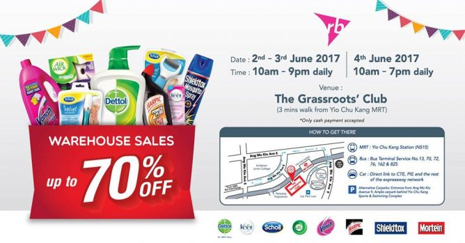 Dettol: RB Warehouse Sale 2017 with up to 70% OFF Dettol, Veet, Scholl, Air Wick, Vanish & More!