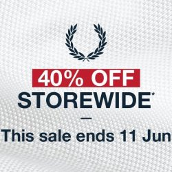 Fred Perry: Enjoy 40% OFF Storewide + Additional 10% OFF Total Bill for VIPs & DBS / POSB & UOB Cardholders!