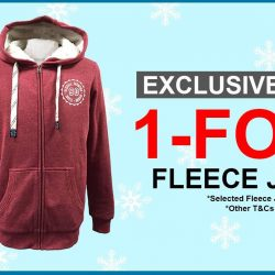 Universal Traveller: Exclusive Promotion - Buy 1 Get 1 Fleece Jacket