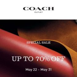 Coach: Special Sale Up to 70% OFF at IMM Outlet Mall