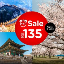 AirAsia: 48Hr Flash Sale for Travel in June from $135!