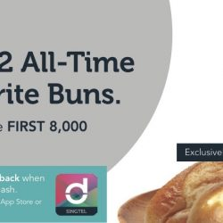 Singtel: $1 for 2 All-Time Favourite Buns from BreadTalk!