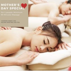 Yunomori Onsen and Spa: Mother's Day Special with 50% OFF 2nd massage!