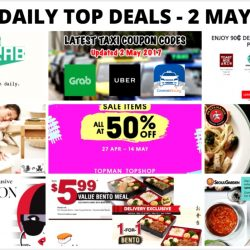 BQ's Daily Top Deals: Latest May Taxi Codes, Starbucks Goodie Grab, 90₵ deals with DBS/POSB Cards & Apple Pay, Sephora Private Sale, 1-for-1 Mains at PastaMania & More!