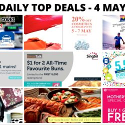 BQ's Daily Top Deals: Singtel Exclusive Offers from BreadTalk & Fish & Co., Metro 20% OFF Cosmetics & Fragrances, Star Cruises 2nd Pax at $50, Yves Rocher Buy 1 Get 1 Free Storewide & More!