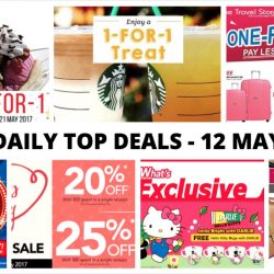 BQ's Daily Top Deals: 1-for-1 Swensen's Sundaes, 1-for-1 Starbucks Drink, 1-for-1 Luggage Sale, Hello Kitty Limited Edition Mugs, BHG Super Sale & More!