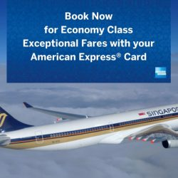 Singapore Airlines: Economy Class Exceptional Fares with American Express Cards!