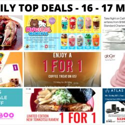 BQ's Daily Top Deals: Burger King E-Coupons, 1-for-1 meals and 50% off with Bank cards, NEW LINE FRIENDS X Sanrio Characters Ceramic Mug Designs at 7-11, Cathay Pacific Exclusive Fares with Standard Chartered Cards & More!