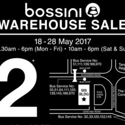 Bossini: Warehouse Sale with Prices Starting from $2!