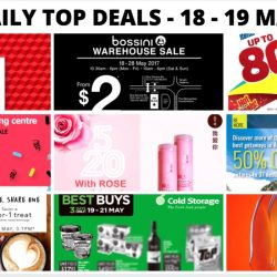 BQ's Daily Top Deals: Bossini Warehouse Sale, Consumer Electronics Expo 2017, 50% OFF at World of Sports, New Chun Cui He Rose Honey Milk Tea, 50% OFF Tigerair Fares for NTUC Members, Ben & Jerry's Ice Cream Offer & More!