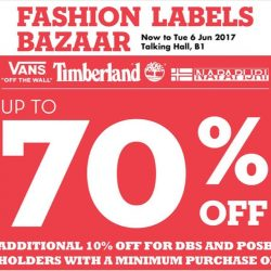 Takashimaya: Fashion Labels Bazaar with Up to 70% OFF Vans, Timberland & Napapijri