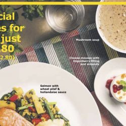 IKEA: 3-Course Meal Offer for just $10.90 (UP $16.40)