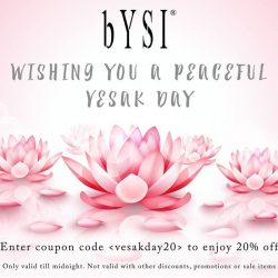 [bYSI Singapore] Enjoy 20% off your order when you shop on www.
