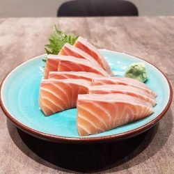 [The Sushi Bar Dining] Salmon sashimi buy 2 get 1 free last day of the week!