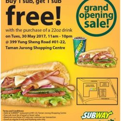 [Subway Singapore] Grand Opening Sale!