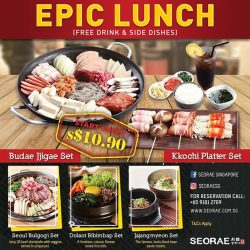 [SEORAE] Enjoy recommended set : Budae Jjigae, Kkochi platter, Seoul bulgogi, Dolsot bibimbap, and Jajangmyeon start from $10.
