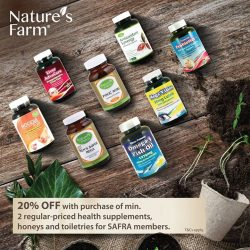 [Nature's Farm] If you are a SAFRA member or Servicemen (11B) cardholder, you get to enjoy up to 20% OFF discounts when