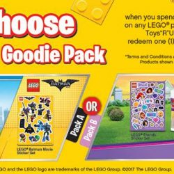 [Babies'R'Us] From 24th May, choose a free LEGO goody bag when you purchase $40 and above any LEGO products!