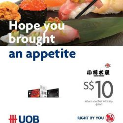 [Otaru Suisan] Get a $10 Voucher when you make your payment with UOB cards at Otaru Suisan!