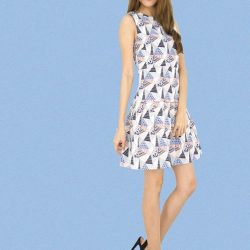 [MOONRIVER] Kimi Special Print Drop Waist Dress - Get Inspired.