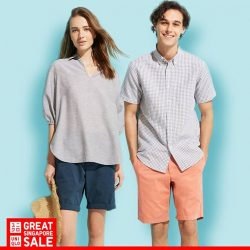 [Uniqlo Singapore] Keep it casual this June with the ever-comfortable Supima Cotton Short Sleeve T-Shirts and Chino Shorts for both