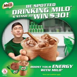 [Long John Silver's] Be spotted by MILO® ambassadors when you drink MILO® and stand a chance to win $30!