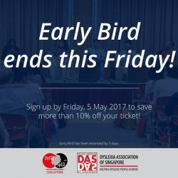 [Dyslexia Association of Singapore] Contemplating signing up for UnITE SpLD 2017?