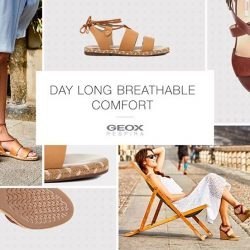 [GEOX] Make summer dressing a breeze and experience natural comfort all day long with Geox's new range of breathable sandals -