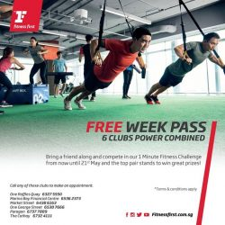 [Fitness First] POWER PACKED WEEK: Get set for a power packed week with the ultimate Free Week Pass to 6 clubs* and
