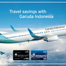 [Citibank ATM] Take off and enjoy travel savings with Garuda Indonesia.