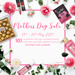[Guardian] Today is the last day of Guardian's exclusive online Mother's Day Sale!