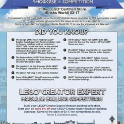 [Bricks World (LEGO Exclusive)] Calling all Bricks World MembersLEGO Modular Buildings 10th Anniversary Competition @ Plaza Singapura StoreHow much do you know about