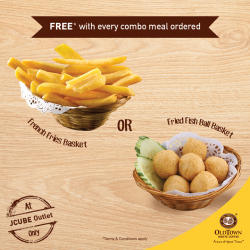 [OLDTOWN White Coffee Singapore] Every meal gets better with a side of fries!