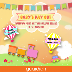 [Guardian] Come with your little ones and join us for Guardian's Baby Day Out at Waterway Point, West Wing Village