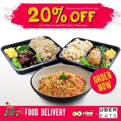 [QQ Rise] QQ Rice x UberEATS Food Delivery Available NOW!