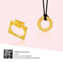 [CITIGEMS] Designed by famous French Designer, Mathieu Tournaire, the 999 Pure Gold Geometry Love Collection tells the story of a journey