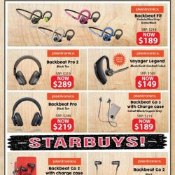 [EpiCentre Singapore] Hit the right note with these Plantronics audio gadgets to bring out the best in all your earworms.