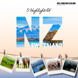 [ASA Holidays] Begin your journey into the scenic New Zealand and explore the 5 Highlights this majestic country.