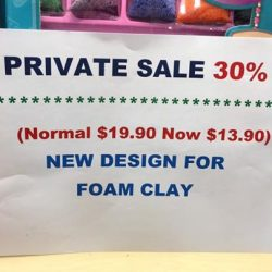 [ART LANE] Special Buy for Father Day in June, Foam Clay Crafts - 30%  BUY 2 above get a free Gift at Scott