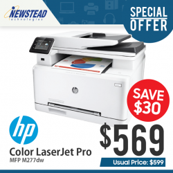 [Newstead Technologies] Save $30 on HP LaserJet Pro MFP M277dw now at only $569 (UP $599), while stocks last!