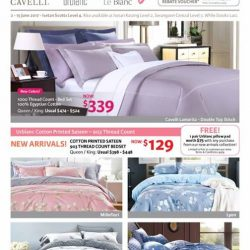 [Isetan] Spruce up your bedding with the colours of Spring.