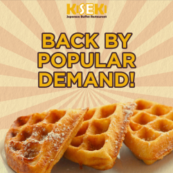 [Kiseki Japanese Buffet Restaurant] Our signature waffle is back during dinner hours.